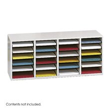 <strong>Safco Products Company</strong> Medium Wood Adjustable-Compartment Literature Organizer