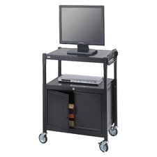 <strong>Safco Products Company</strong> Mobile Av Adjustable Cart with Locking Cabinet