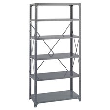 <strong>Safco Products Company</strong> 6 Shelf Commercial Steel Shelving in Dark Gray