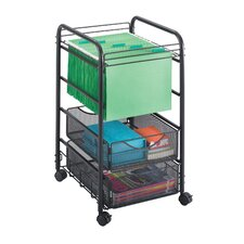 <strong>Safco Products Company</strong> Onyx Mesh File Cart with Drawers