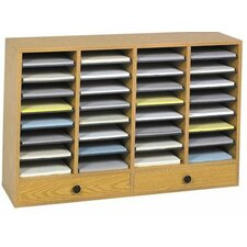 <strong>Safco Products Company</strong> Large Wood Adjustable-Compartment Literature Organizer with Drawers