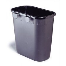 Paper Pitch Rectangular 1.75 Gallon Recycling Waste Basket (Set of 12)