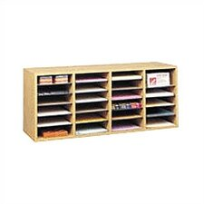 Medium Wood Adjustable-Compartment Literature Organizer