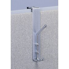 <strong>Safco Products Company</strong> Over-the-Panel Double Coat Hook (Set of 12)