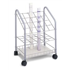 Wire Roll File Filing Cart