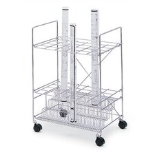 24 Compartments Chrome Wire Roll File