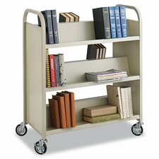 <strong>Safco Products Company</strong> Slant Shelf Book Cart