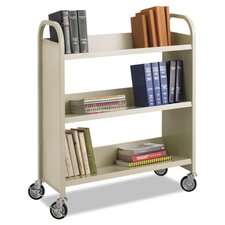 Slant Shelf Book Cart
