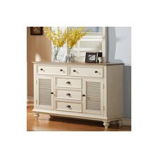<strong>Riverside Furniture</strong> Coventry 6 Drawer Shutter Door Combo Dresser