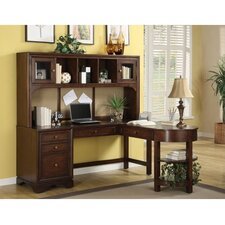 <strong>Riverside Furniture</strong> Bella Vista L-Shaped Computer Desk with Hutch