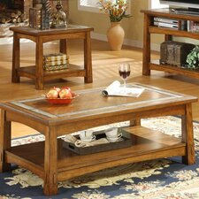 <strong>Riverside Furniture</strong> Craftsman Home Coffee Table Set