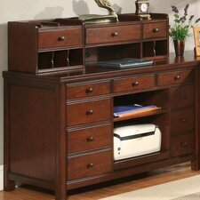 <strong>Riverside Furniture</strong> Avenue Computer Credenza with Hutch