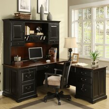 <strong>Riverside Furniture</strong> Bridgeport L-Shape Desk Office Suite