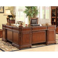 <strong>Riverside Furniture</strong> Bristol Court L-Shaped Executive Desk and Return