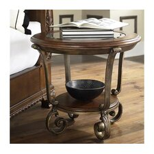 <strong>Riverside Furniture</strong> Fortunado Side Table in Fortunado Distressed Cherry