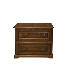 Cantata Two Drawer Lateral File Cabinet in Burnished Cherry