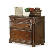 <strong>Riverside Furniture</strong> Bristol Court Lateral File Cabinet in Cognac Cherry