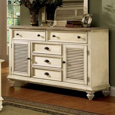 <strong>Riverside Furniture</strong> Coventry Two Tone Shutter Door Combo Dresser