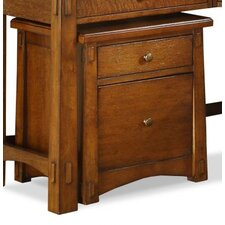 Craftsman Home 2-Drawer Mobile File Cabinet