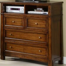 <strong>Riverside Furniture</strong> Craftsman Home 4 Drawer Media Chest