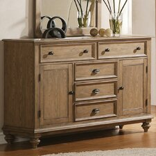 <strong>Riverside Furniture</strong> Coventry 5 Drawer Combo Dresser