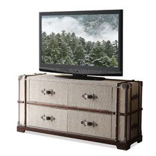 "<strong>Riverside Furniture</strong> Bon Voyage Steamer Trunk 58"" TV Stand"