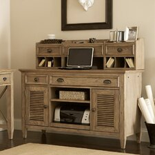 <strong>Riverside Furniture</strong> Coventry Credenza Desk with Hutch