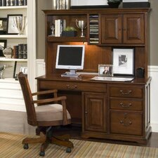 "<strong>Riverside Furniture</strong> Cantata 58"" Computer Desk with Storage Hutch"