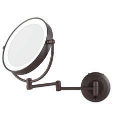 LED Lighted 1X/10X Magnification Wall Mount Mirror