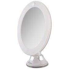 LED Lighted Z'Swivel Power Suction Cup Mirror