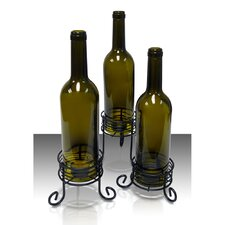 Wine Bottle Candle Holder (Set of 3)