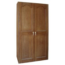440 Two Door Oak Wine Cooler Cabinet with Furniture Trim
