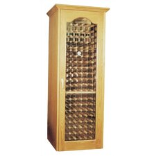 250 Oak Wine Cooler Cabinet with Furniture Trim and Glass Door