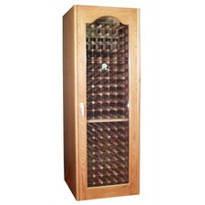 250 Provincial Oak Wine Cooler Cabinet with Double-Paneled, Glass Door