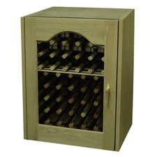 <strong>Vinotemp</strong> Provincial Single Door Oak Wine Cooler with Glass Window