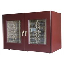 270 Beveled 2 Door Wine Cooler Credenza