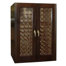 220 Economy 2 Door Wine Cooler Cabinet with Glass Doors