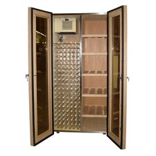 <strong>Vinotemp</strong> 700 Two Door Oak Wine & Cigar Cooler Cabinet
