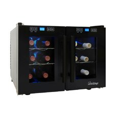 12-Bottle Dual-Zone Thermoelectric Wine Cooler