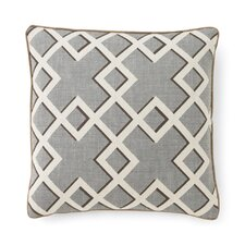 Shadow Trellis Toffee Pillow Cover