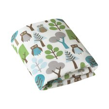 Owls Fitted Crib Sheet