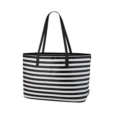 Mini Stripe Ink Madison Diaper Bag