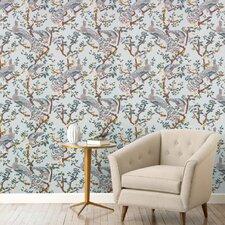 Vintage Plumes Jade Wallpaper