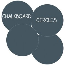Chalkboard Circle Wall Decal (Set of 4)