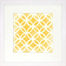 Graphic Pattern Citrine Artwork