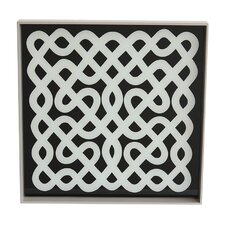 Labyrinth Lacquered Wood Tray