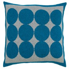 Graphic Dot Lapis & Grey Pillow