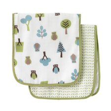 Owls Multi Burp Cloth (Set of 2)