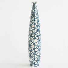 <strong>DwellStudio</strong> Blue Wheels Tall Skinny Vase