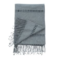 Raw Silk Mist Throw